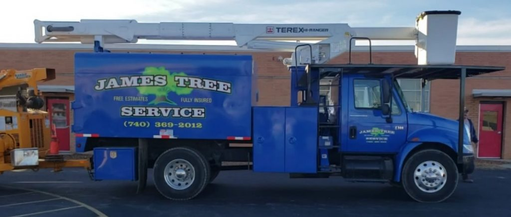 James Tree Service Delaware, Ohio - Bucket Truck
